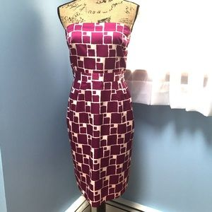 Banana Republic Square Pattern Strapless Dress